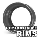 Tubeless Demountable Rims